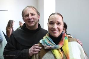 Julius Sasnauskas ir Laima Lingytė Žurnalistų namuose (Stasio Paškevičiaus nuotrauka)