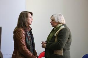 Gražina Sviderskyte ir Joklanta Mažylė Žurnalistų namuose (Stasio Paškevičiaus nuotrauka)