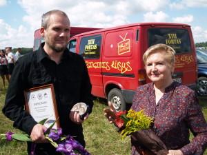 Romas Sadauskas-Kvietkevičius ir Aldona Armalė - abu šiemet tapo premijų laureatais