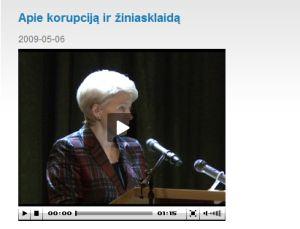 D.Grybauskaitė kalba apie žiniasklaidos korupciją