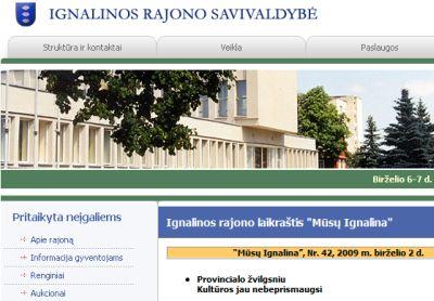 Ignalinos valdžia ir žiniasklaida nesipyksta