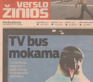 Ar žiūrovas norėtų mokėti už lietuviškų televizijų programas?
