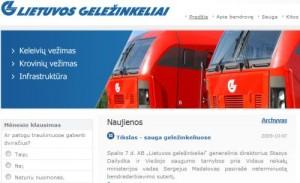 Tikslas - sauga geležinkeliuose