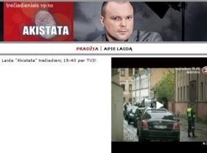 """TV3 laidos """"Akistata"""" vedėjas Kristupas Krivickas"""