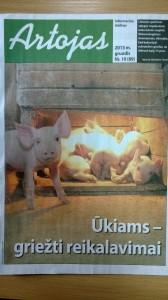 Artojas ir kiaules 2013 gruodis