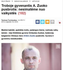 Delfi Cerniauskas Zuoko pusbroli padare naujiena 2015 04 18